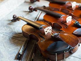 各種サイズのバイオリンをご用意しています。